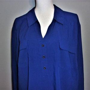 Blue 3X Maggie Barnes Tunic Top